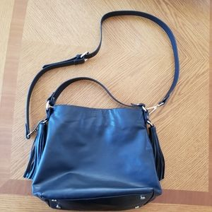 Zara Trafaluc Black Drawstring Bucket Bag